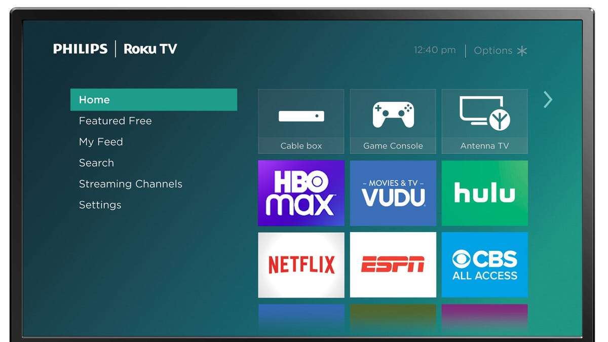 Philips Roku TV running HBO Max