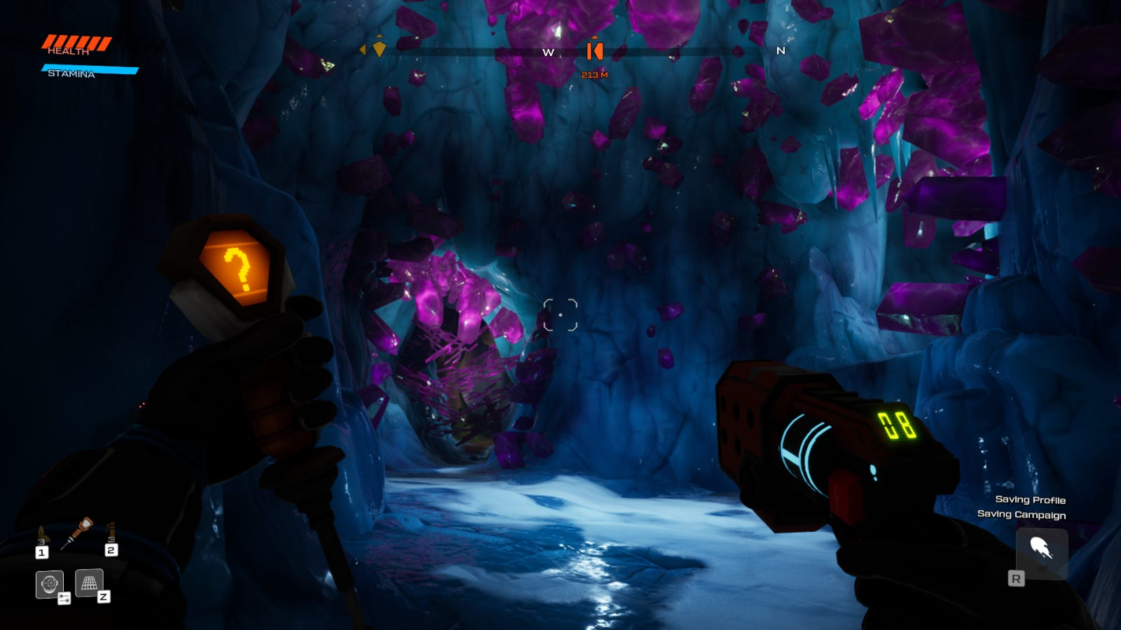 Crystal caves from Journey to the Savage Planet