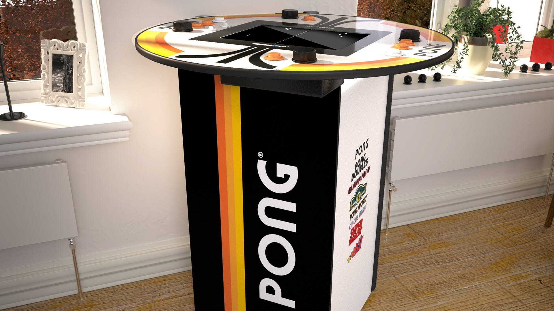 A standing height 'Pong' Table.