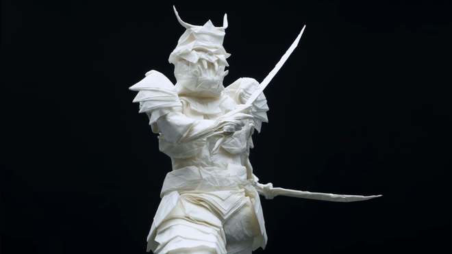 Check Out This Origami Samurai Folded From a Single Piece of Paper