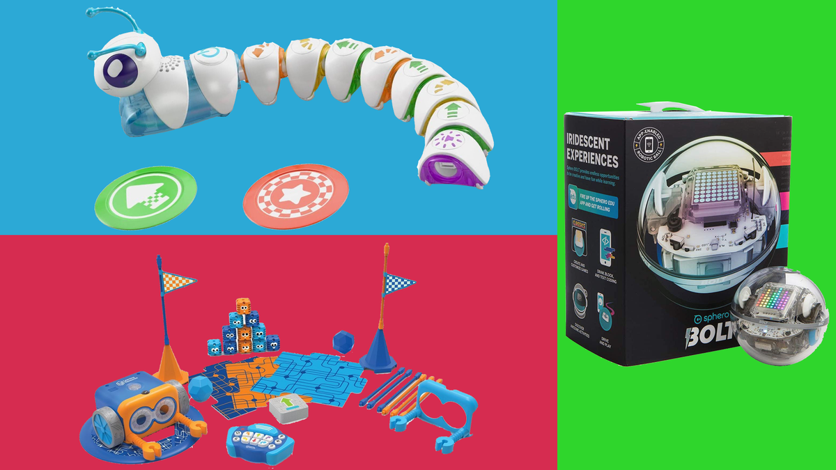 Various kids' coding toys