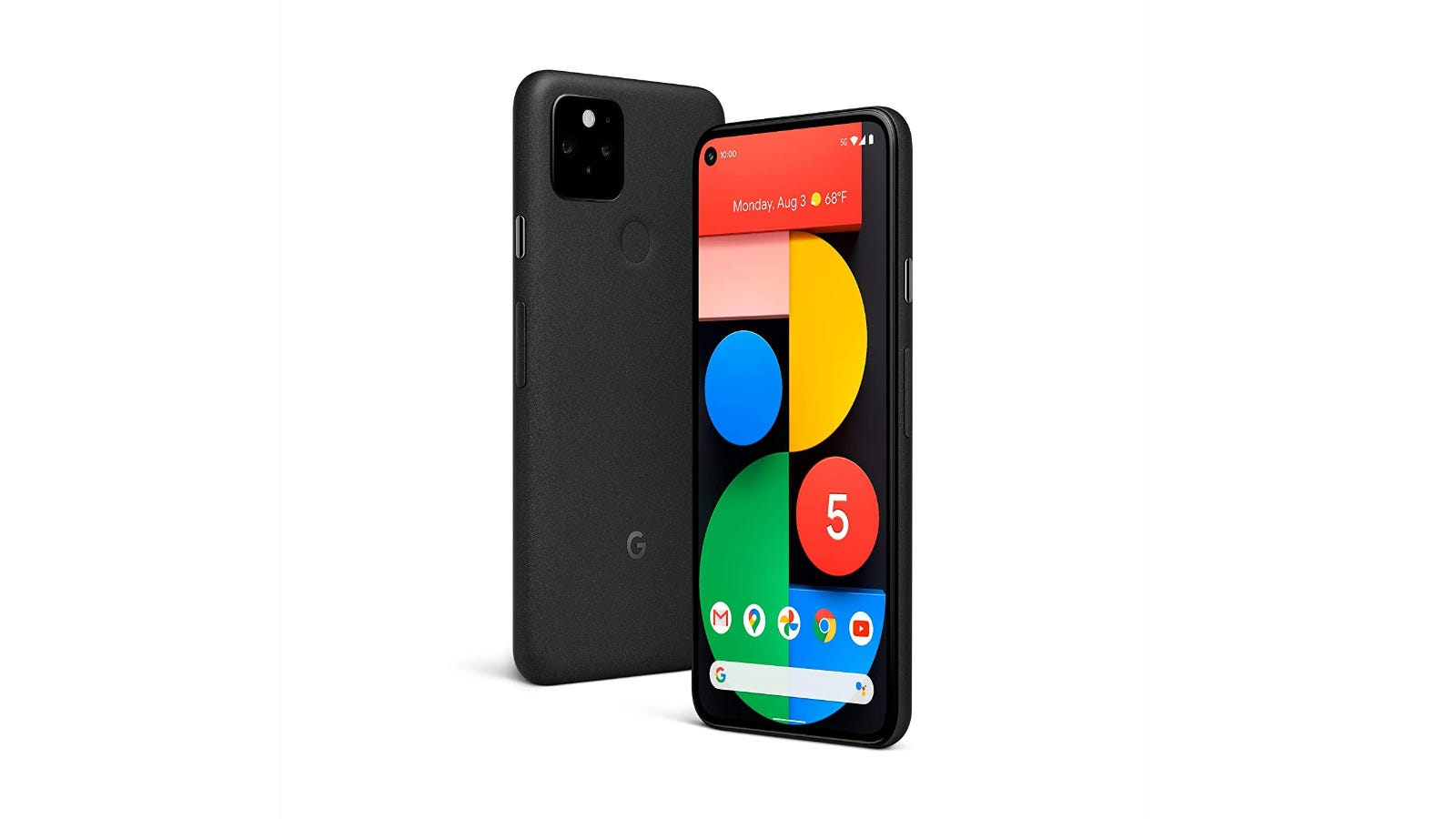 Google Pixel 5 back and front