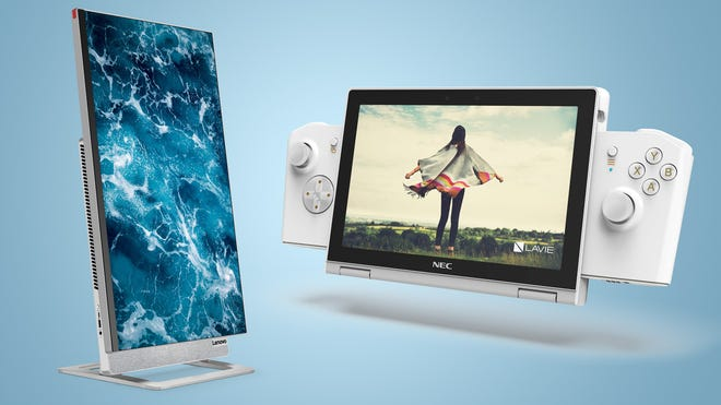 Lenovo Shows Off a Gaming Netbook and an All-In-One Desktop with Rotating Screen