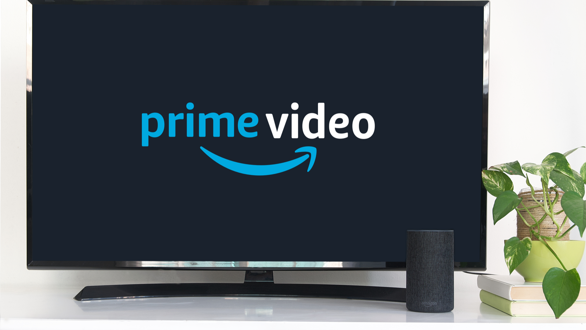 Smart TV with the Prime Video service app on it