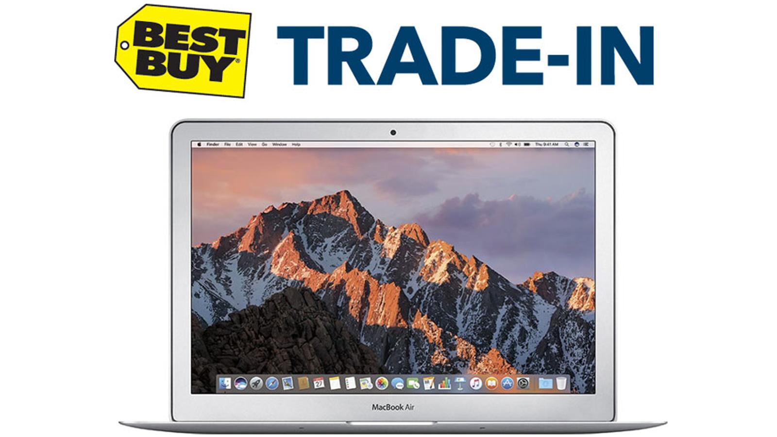 Best Buy Trade In program with picture of MacBook