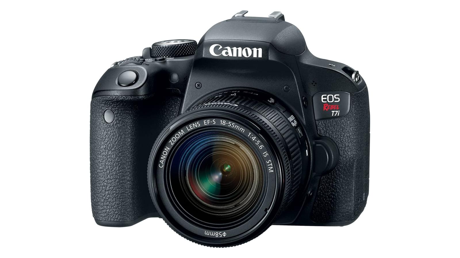 The Canon EOS Rebel T7i.