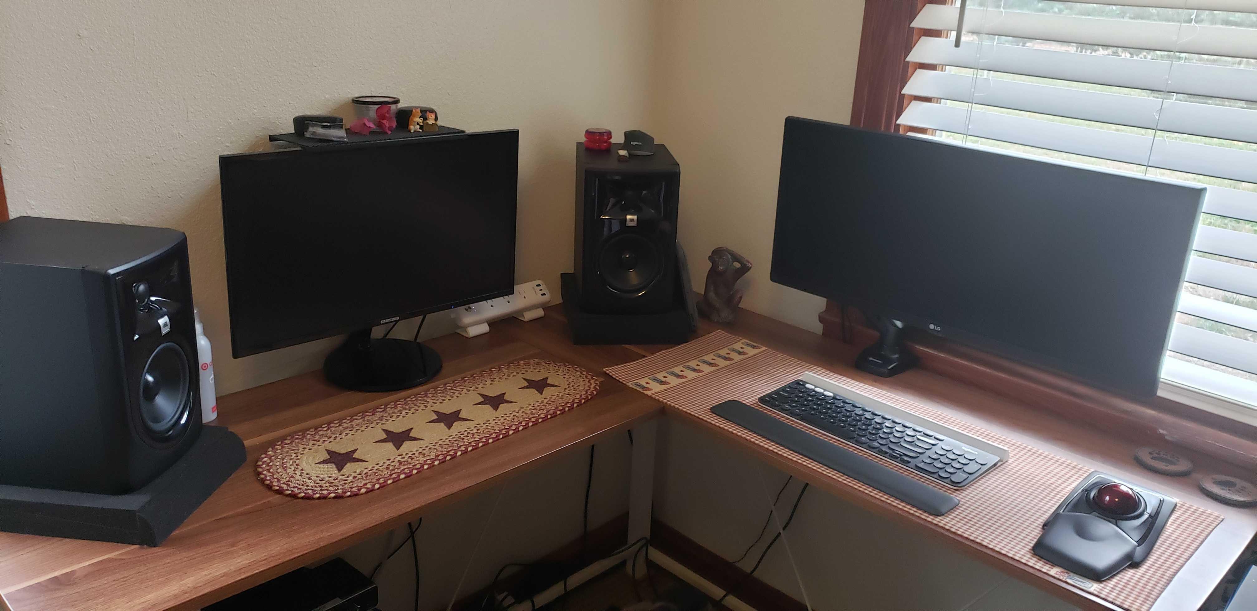 Andrew's office setup