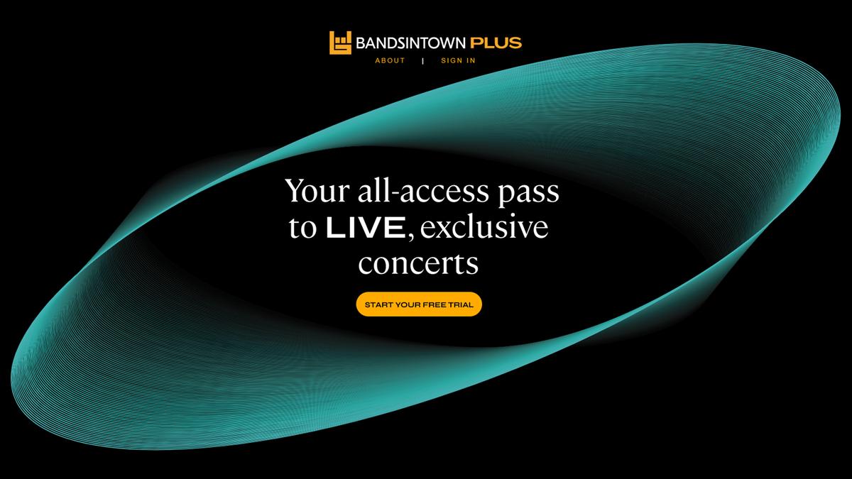 Bandsintown PLUS new online concert subscription service