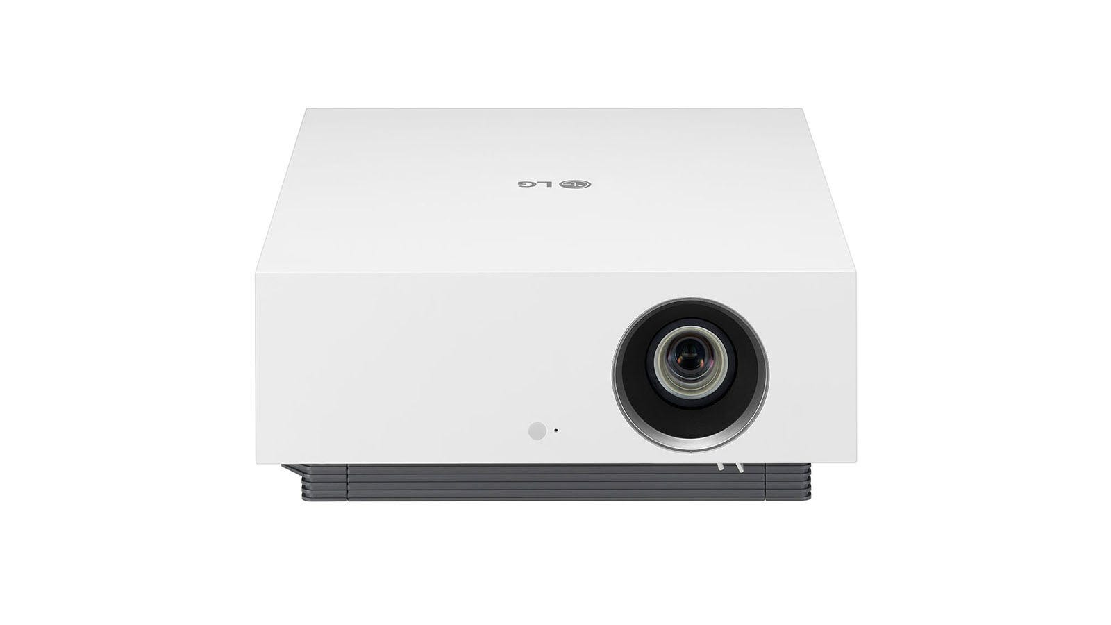 A closeup of the LG CineBeam projector