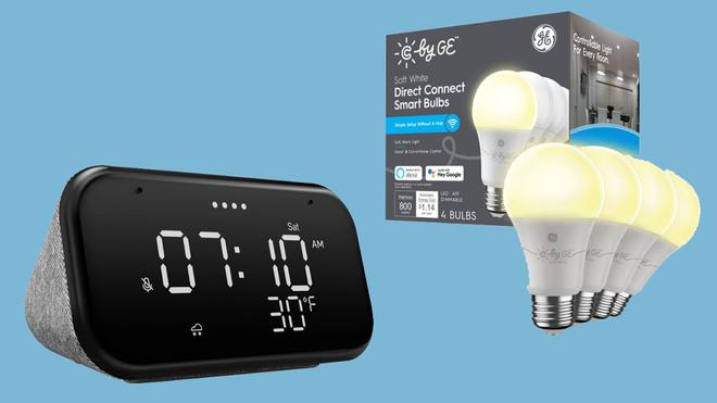 Killer Deal: Get a Lenovo Smart Clock Essential and 4 CYNC Smart Bulbs for $30