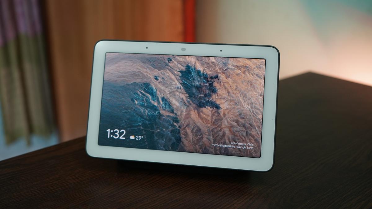 Google Nest Hub smart display on a desk