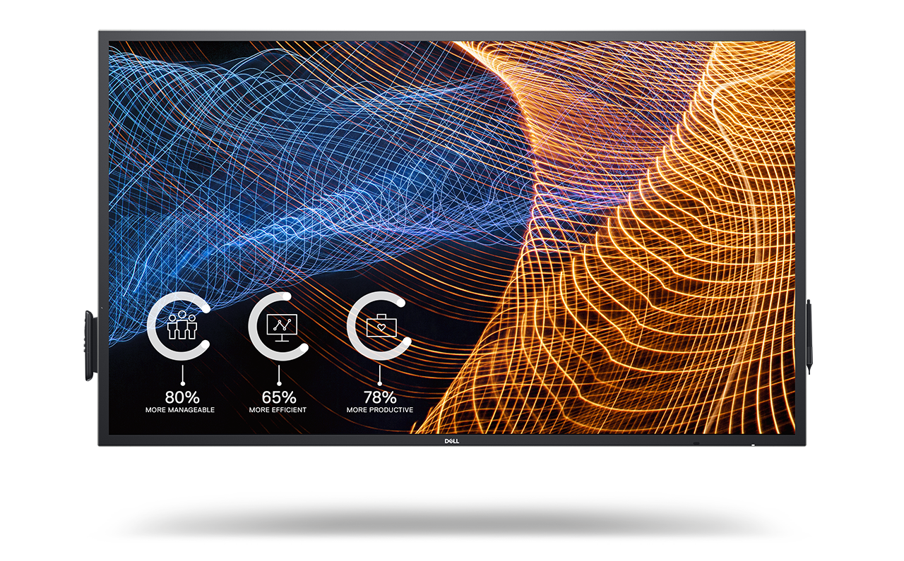 Dell 65-inch touch display