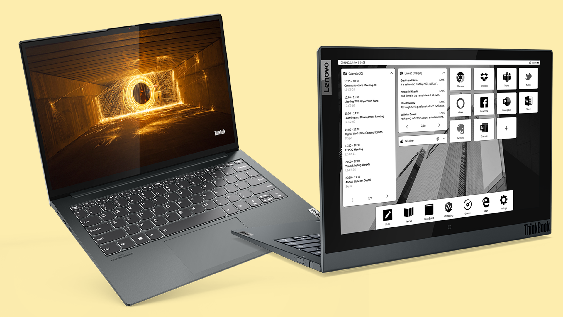 Lenovo's ThinkBook Plus Gen 2 i Is a Dual-Screen Wonder with a Full-Sized E-Ink Display