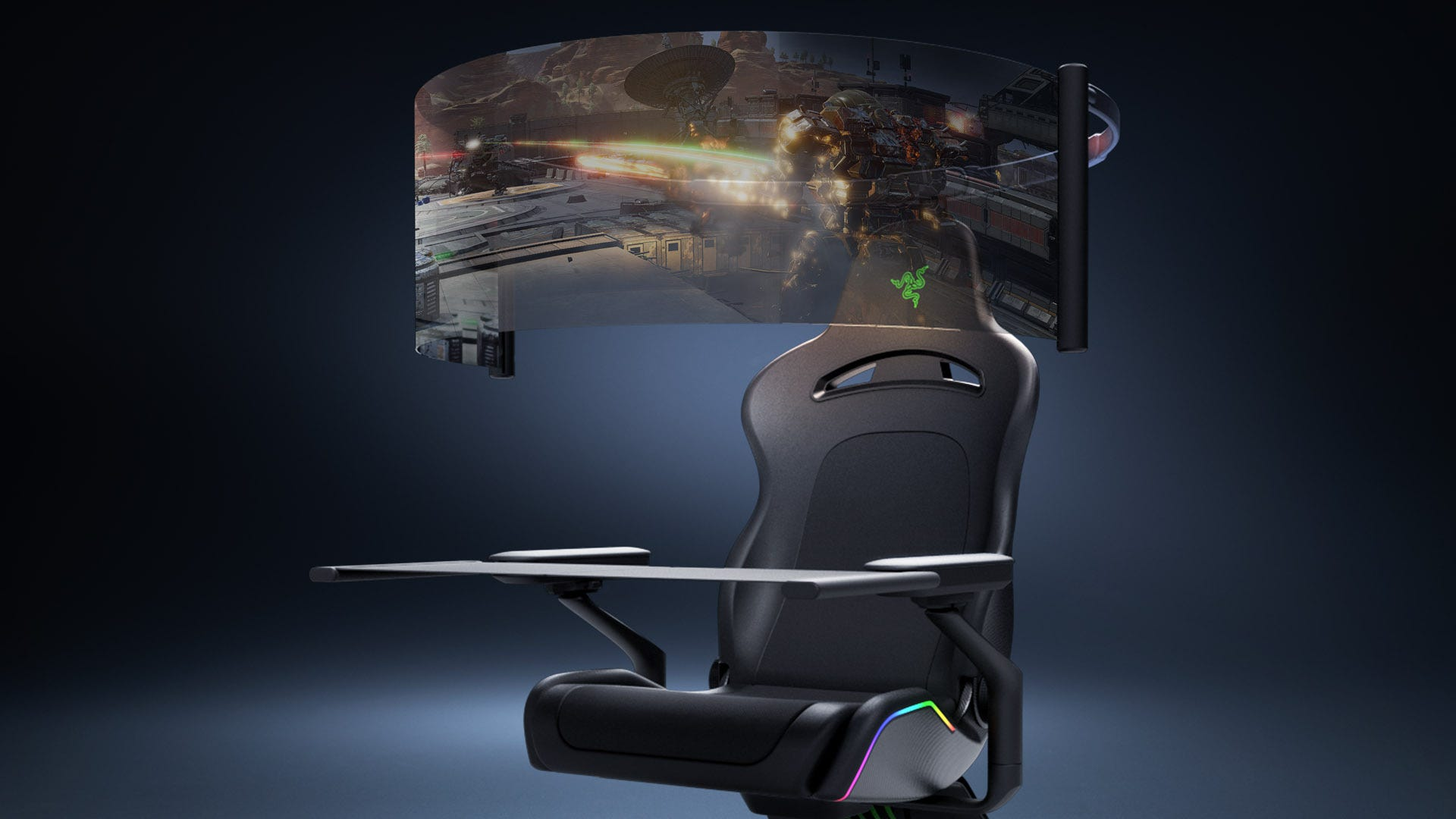 Razer's Project Brooklyn Is a Gaming Chair Right Off a 'Star Trek' Set