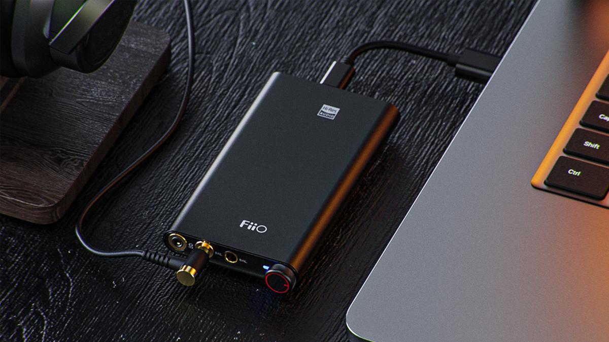 The FiiO Q3 portable headphone amplifier with USB-C.