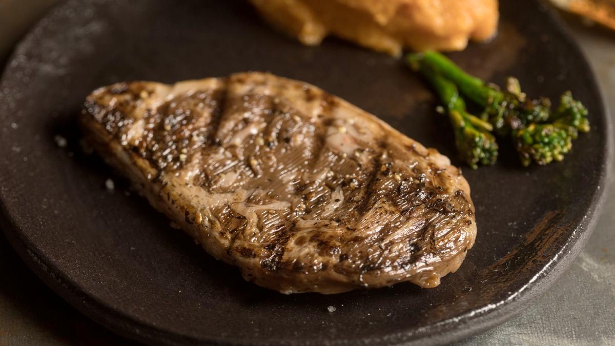 A photo of Aleph Farms' cultivated ribeye steak.