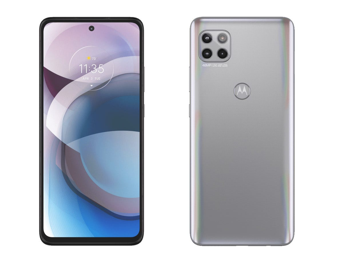 Motorola One 5G Ace front and rear