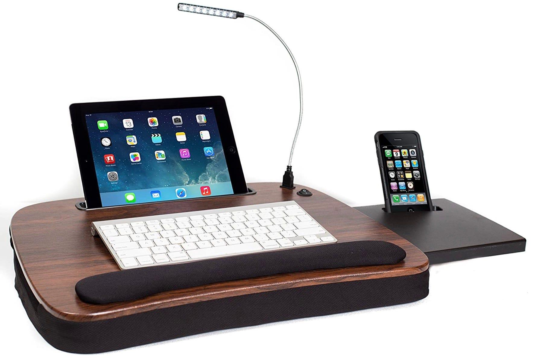 lap desk with night light