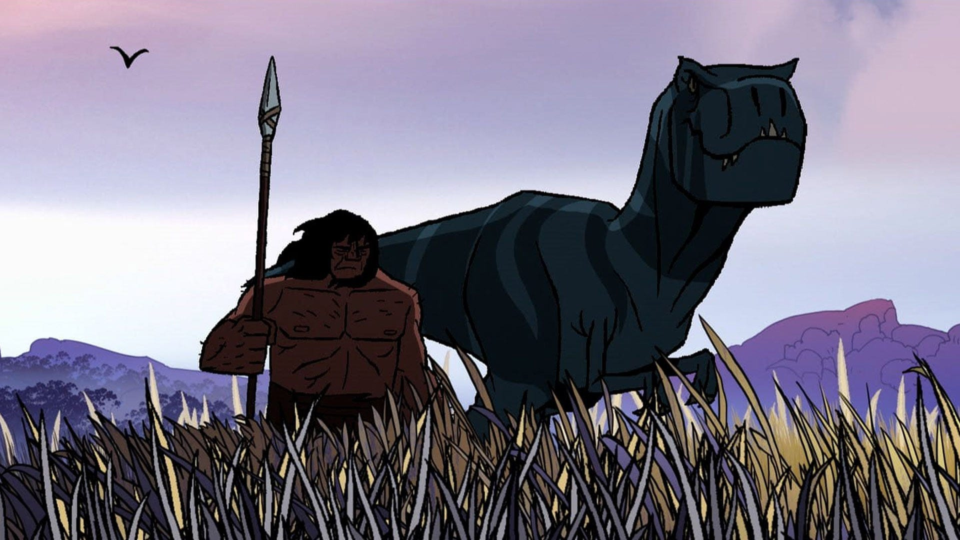 Adult Swim Primal: Spear and Fang in field