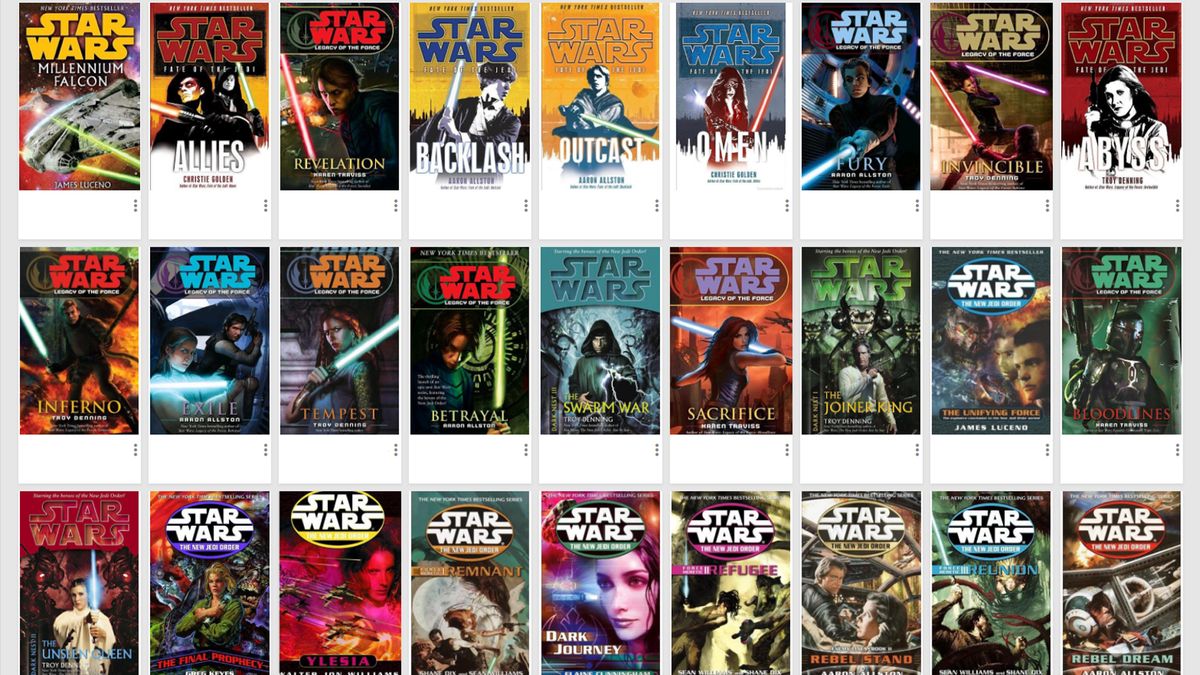 """Collection of """"Star Wars"""" books in Google Books"""