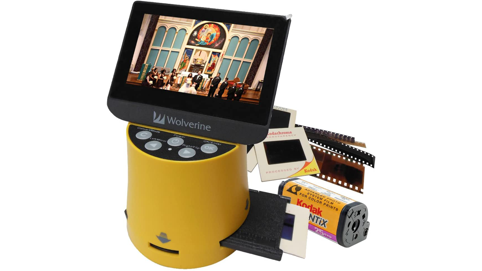 Wolverine Titan 8-in-1 slide to digital image converter in yellow