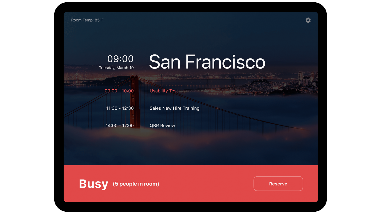 Zoom for Rooms' new dashboard with air quality and people-counting features.