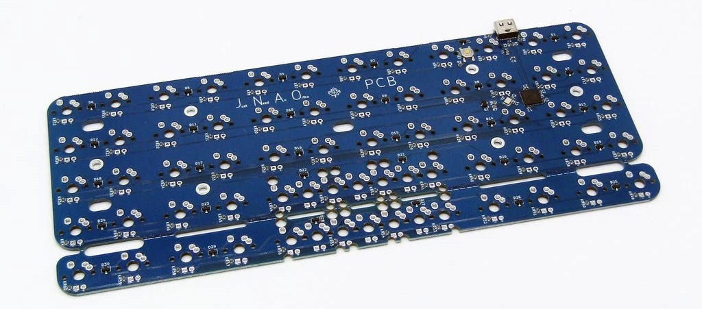 JNAO keyboard printed circuit board