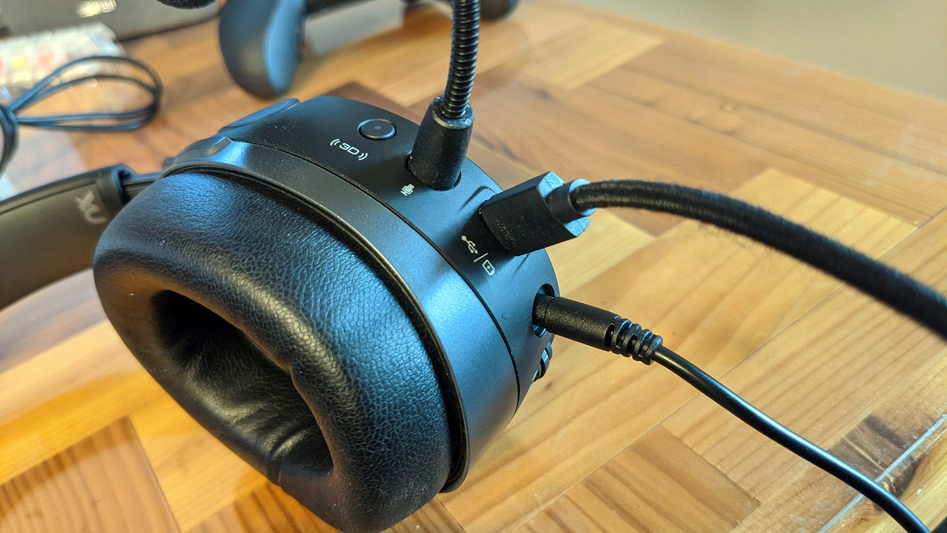 Audeze Mobius with cables attached