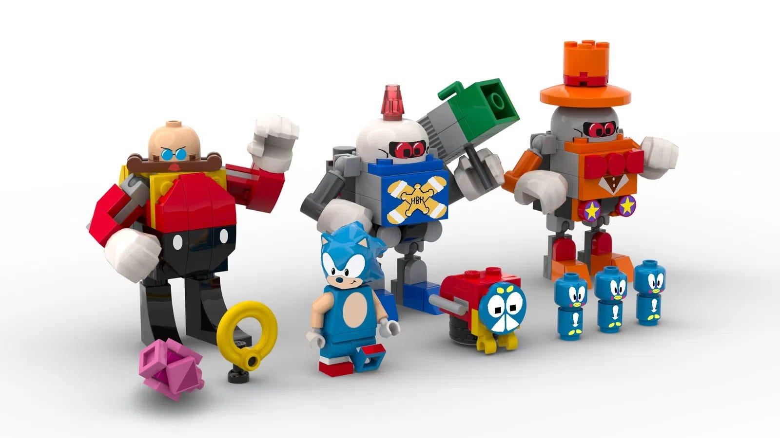 Sonic lego set, characters