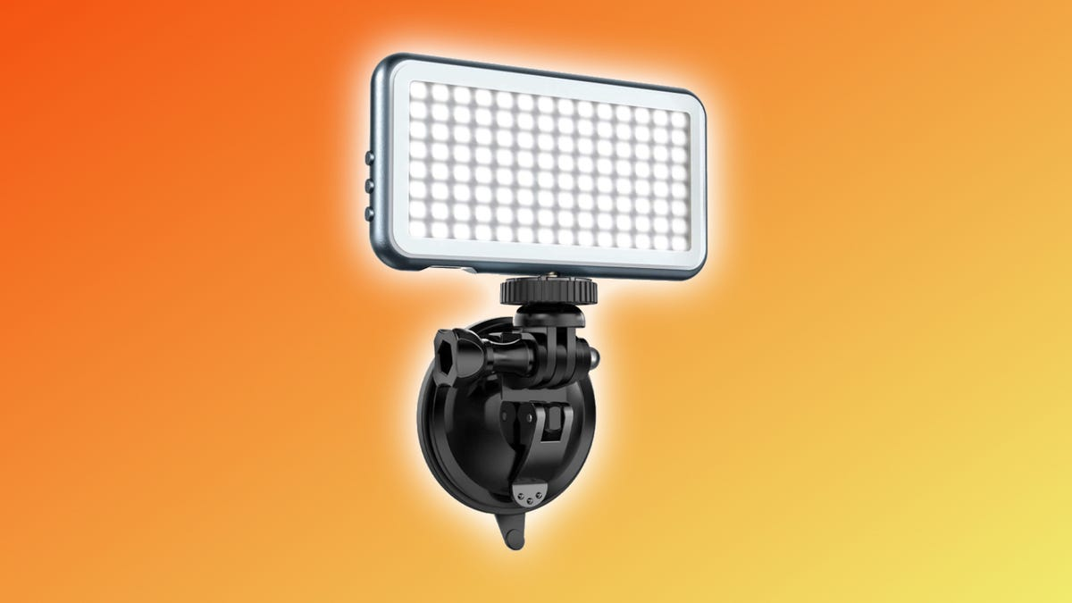 Jelly Comb LED Light against multi-colored backdrop