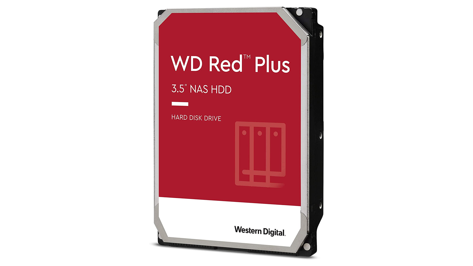 A photo of the WD Red Plus 3.5-inch NAS HDD.