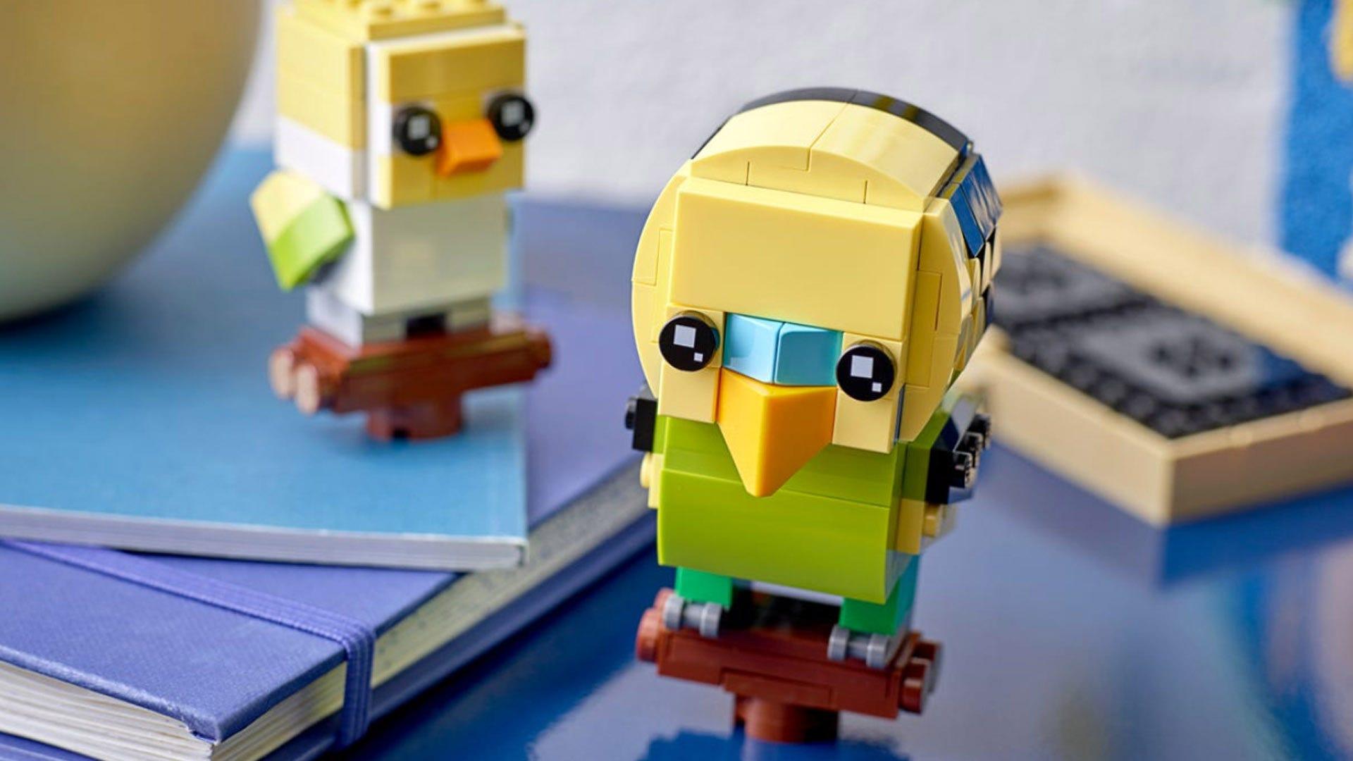 LEGO's Latest BrickHeadz Are Adorable Bobble-Headed Fish and Bird Pets thumbnail
