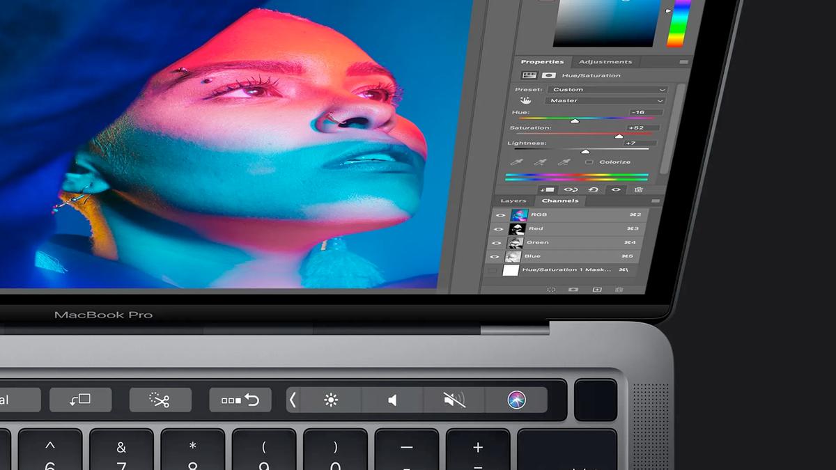 Photoshop on an M1 MacBook Pro.