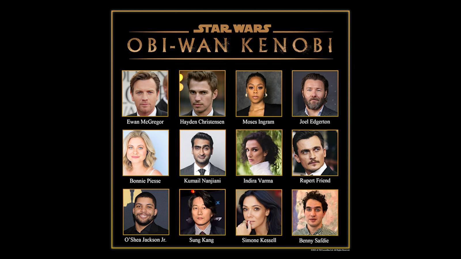 Cast of the upcoming 'Obi-Wan Kenobi' show