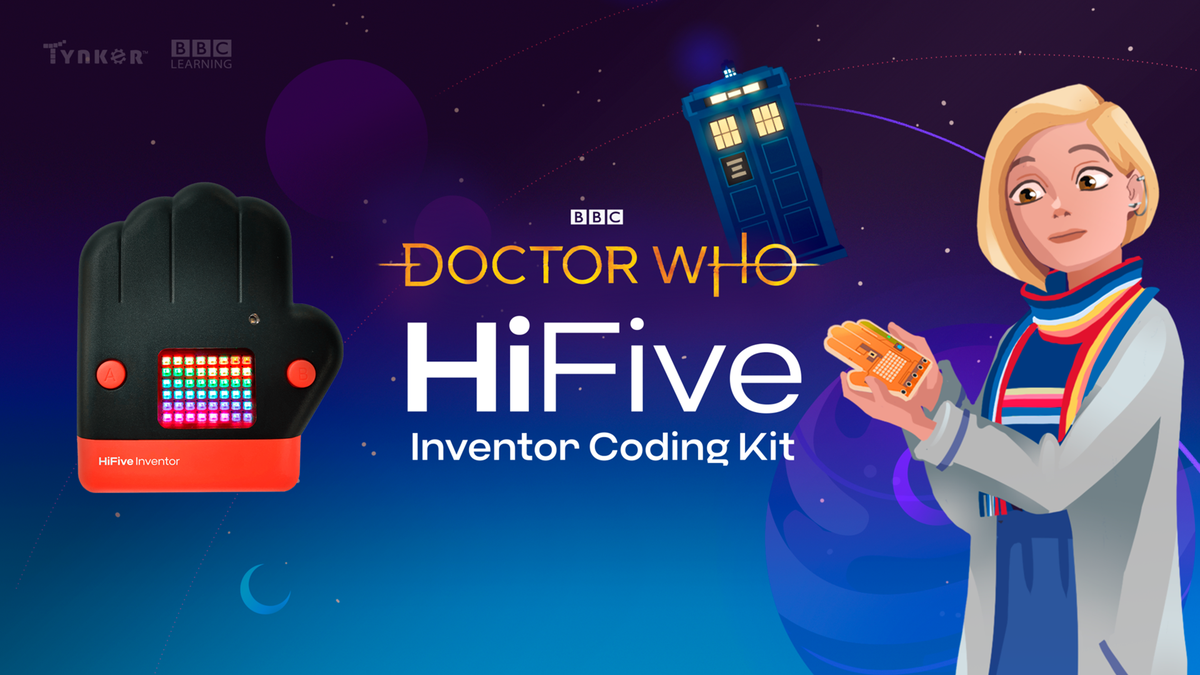 The Thirteenth Doctor holding an inventory coding kit.