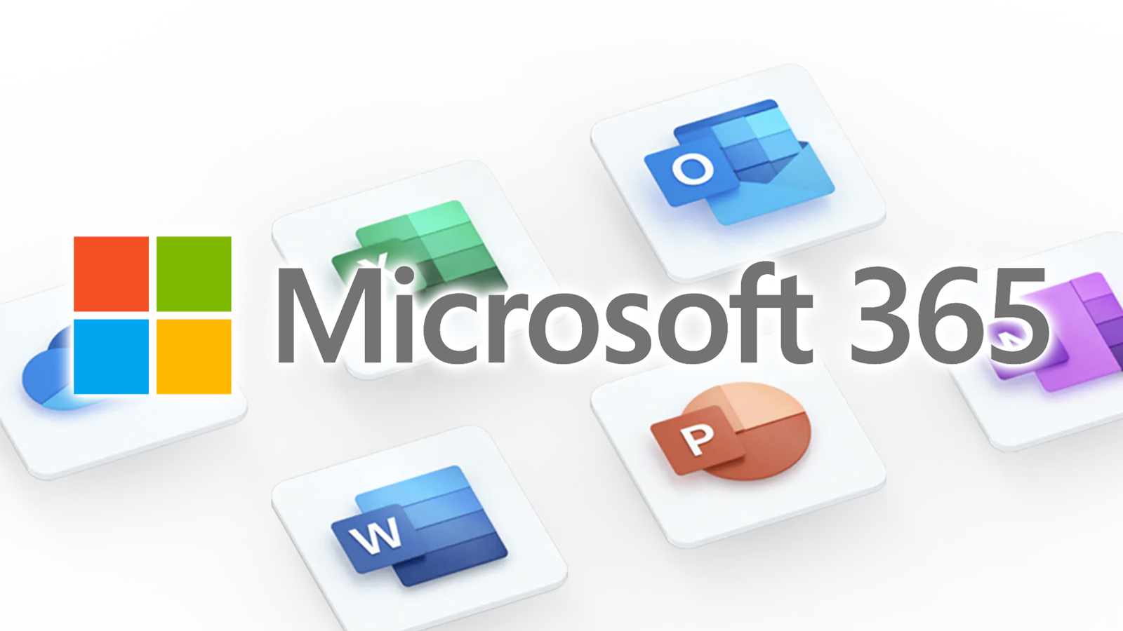 The Microsoft 365 logo over a white background.