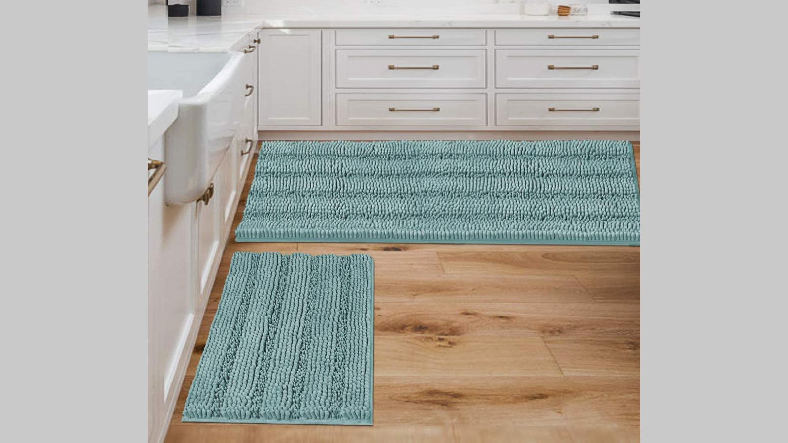 Add a Splash of Style and Color to Your Home with This Chenille Mat Set