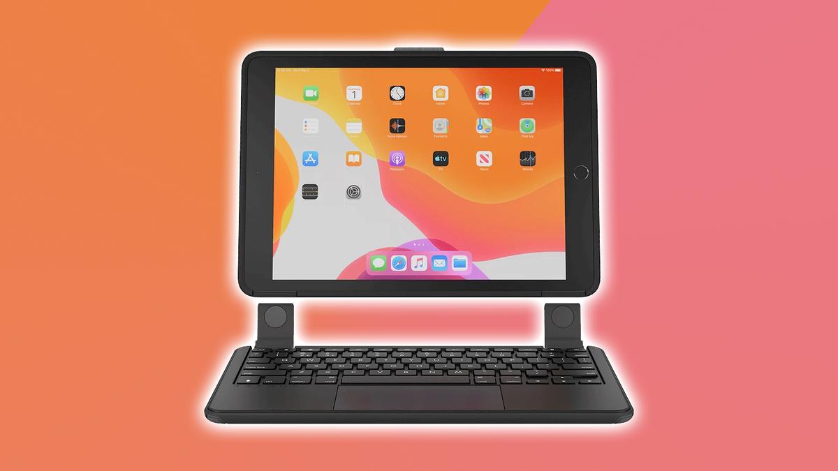 A photo of the Brydge 10.2 MAX+ detachable iPad keyboard.