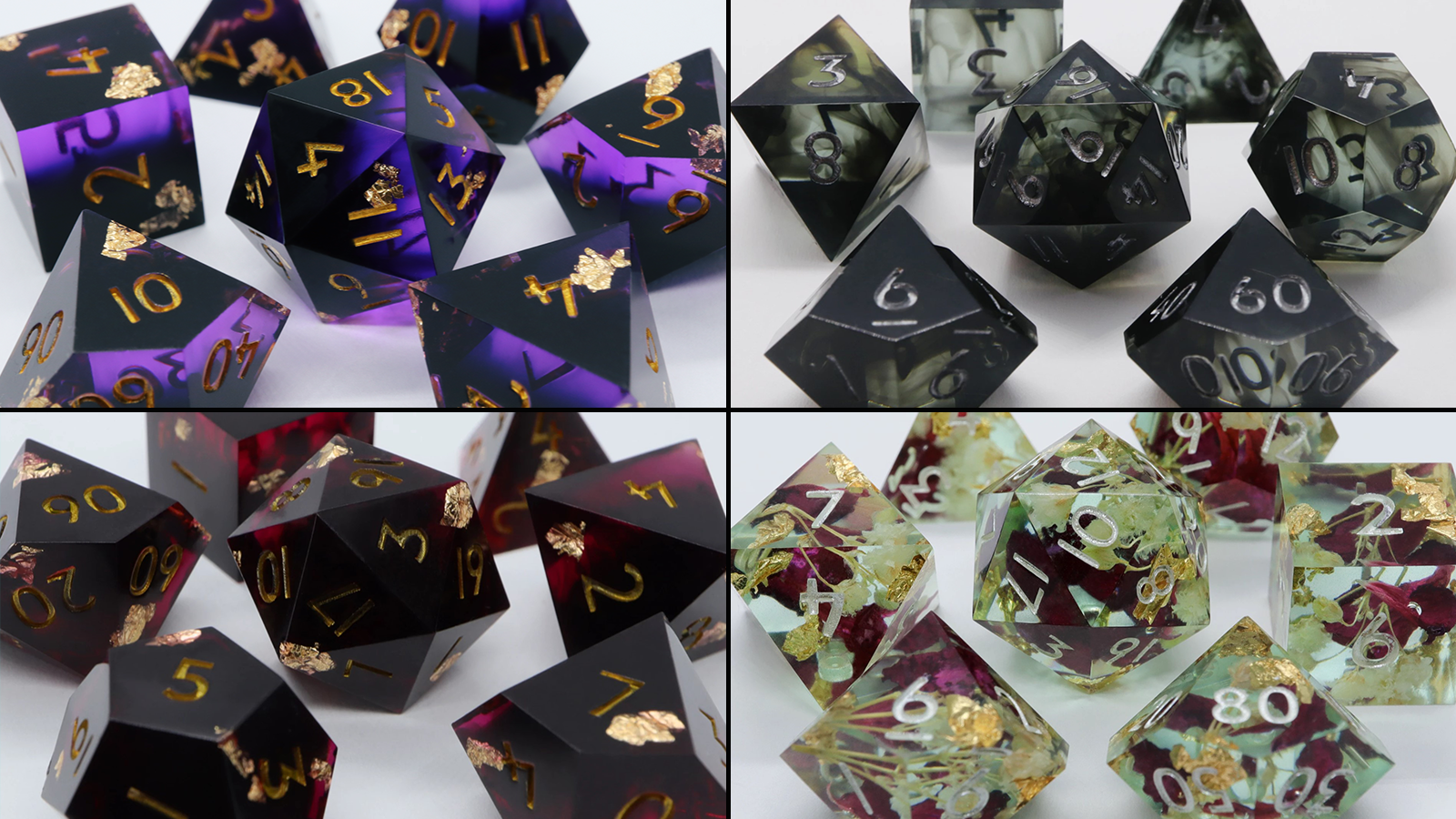 Multiple sets of custom dice from Everything Dice