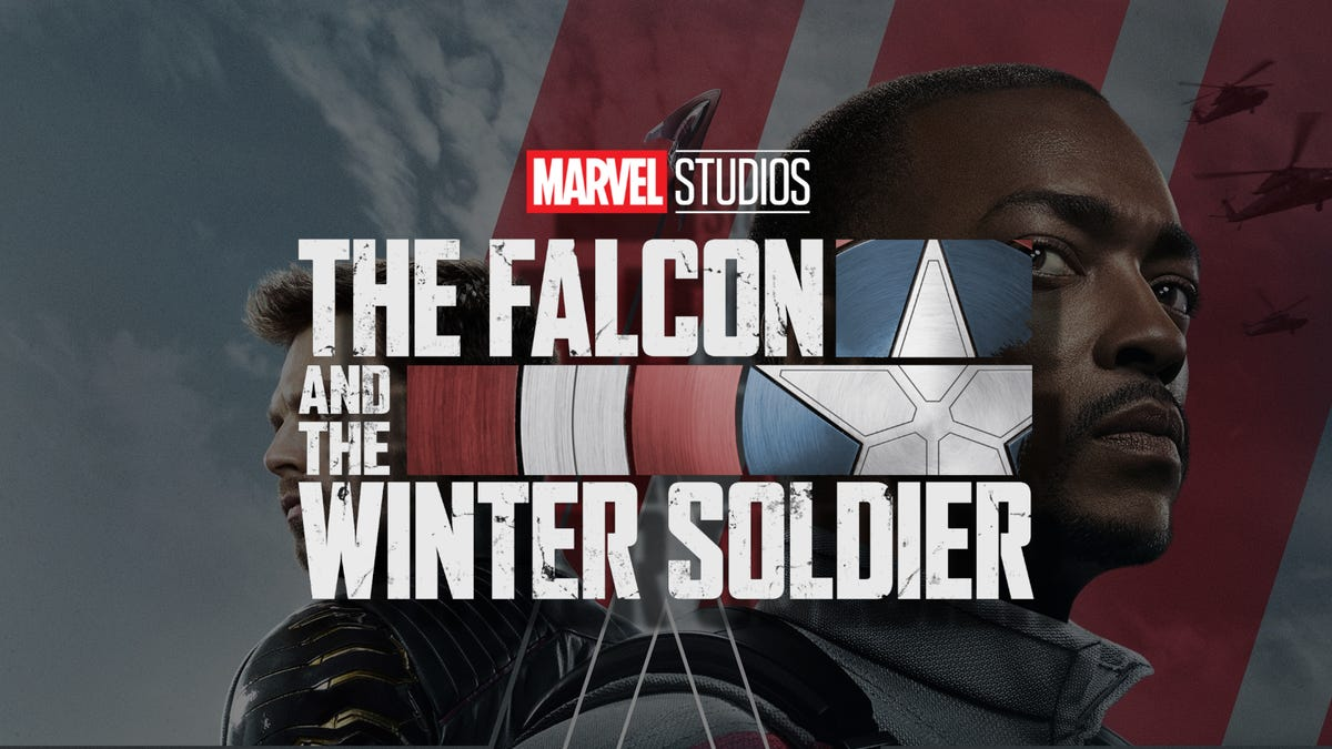 'The Falcon and the Winter Solider' logo against show poster.