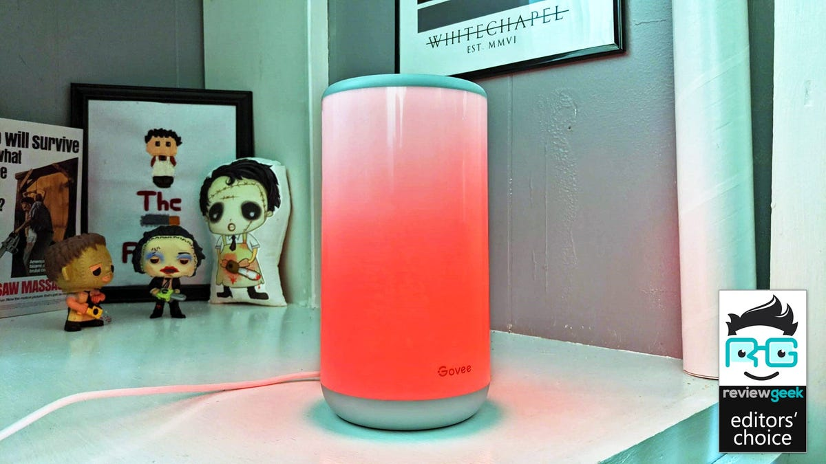 """The Govee Aura Lamp with the """"fire"""" setting"""
