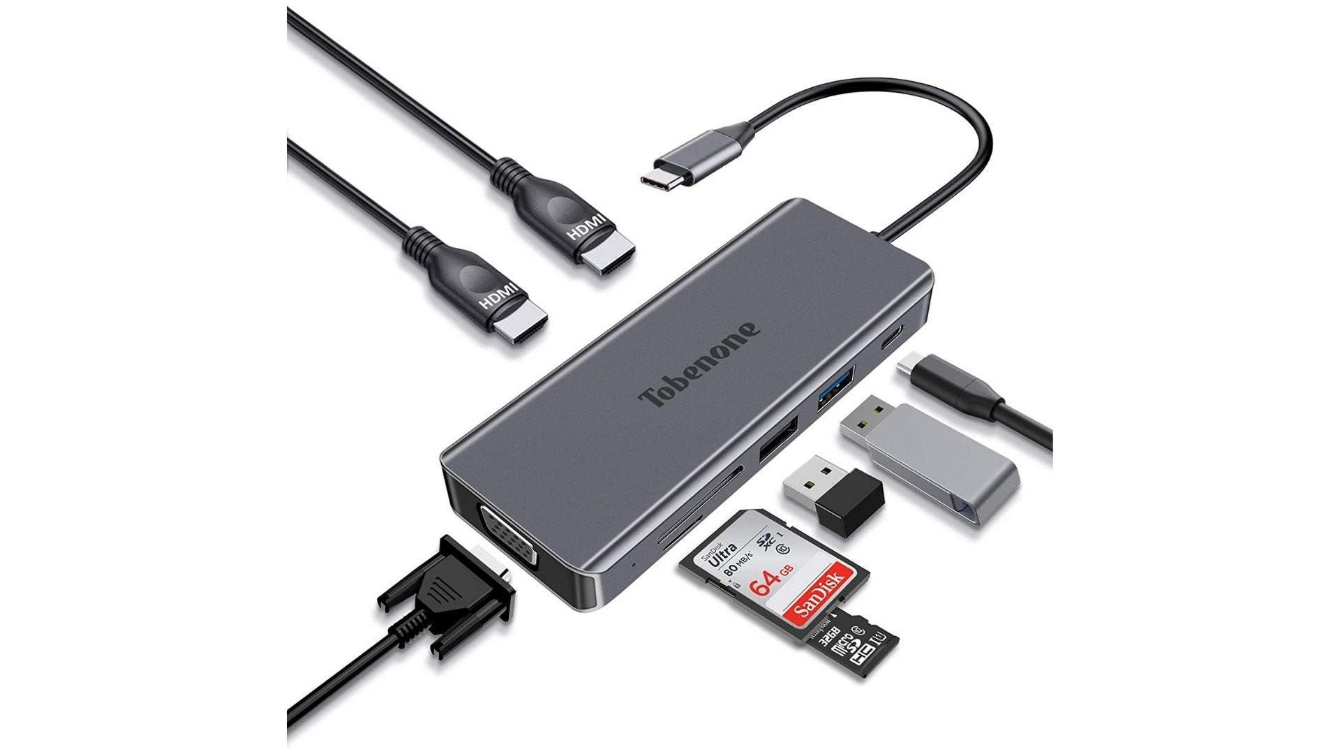 Tobenone USB-C Dock for laptops