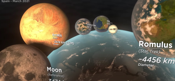 Curious How Big Fictional Planets Are? This Cosmic Video Compares Them All
