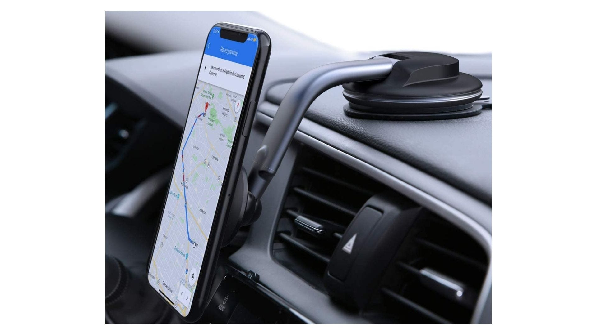 aukey magnetic phone dock for your car