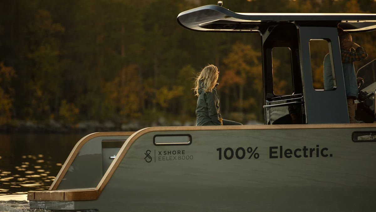 The backend of an electric boat