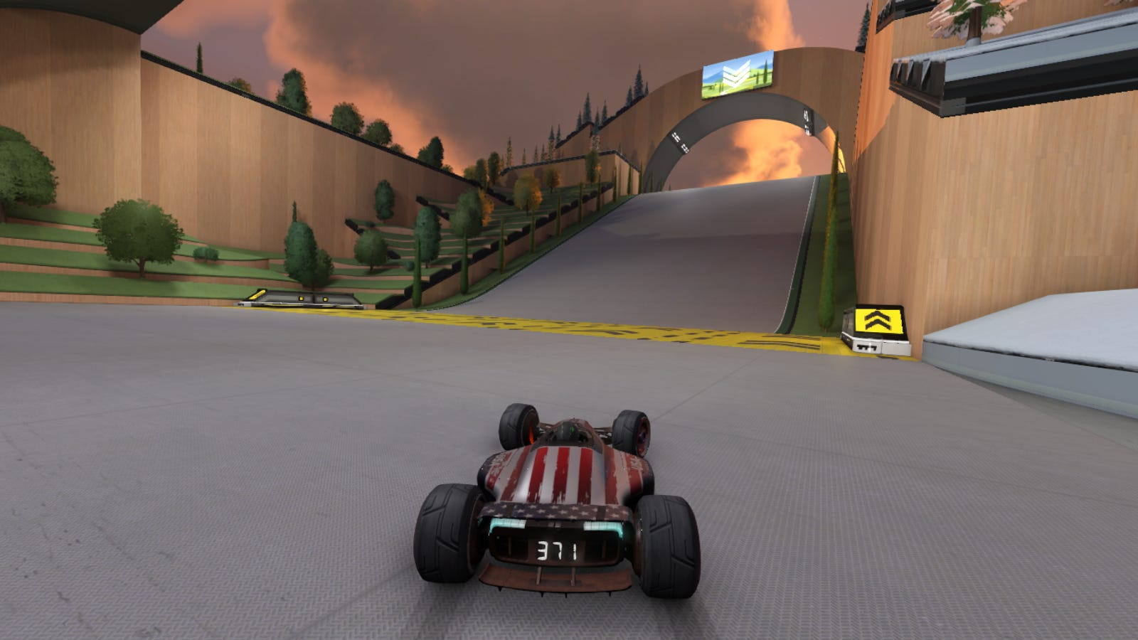 Player perspective racing in 'Trackmania'