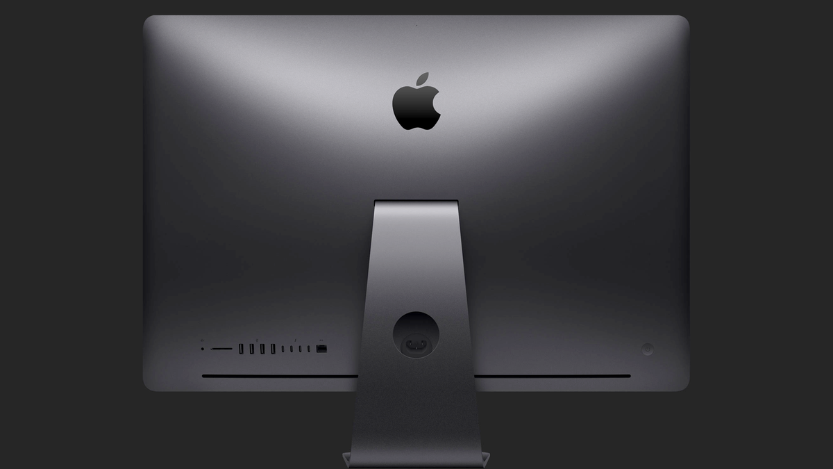 The backside of the iMac Pro.