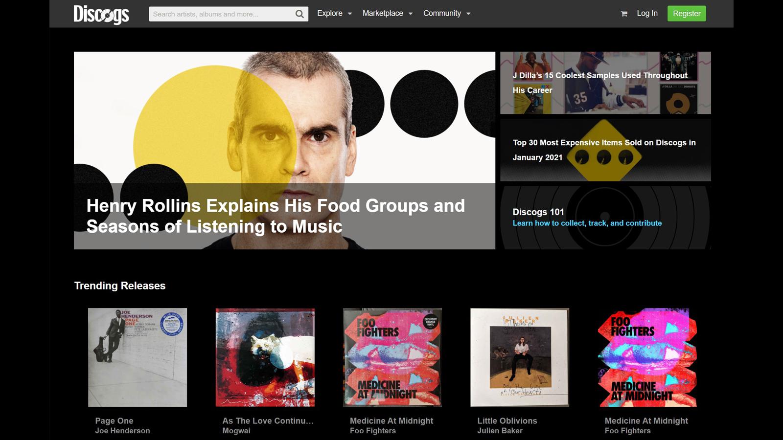 Discogs digital vinyl storefront