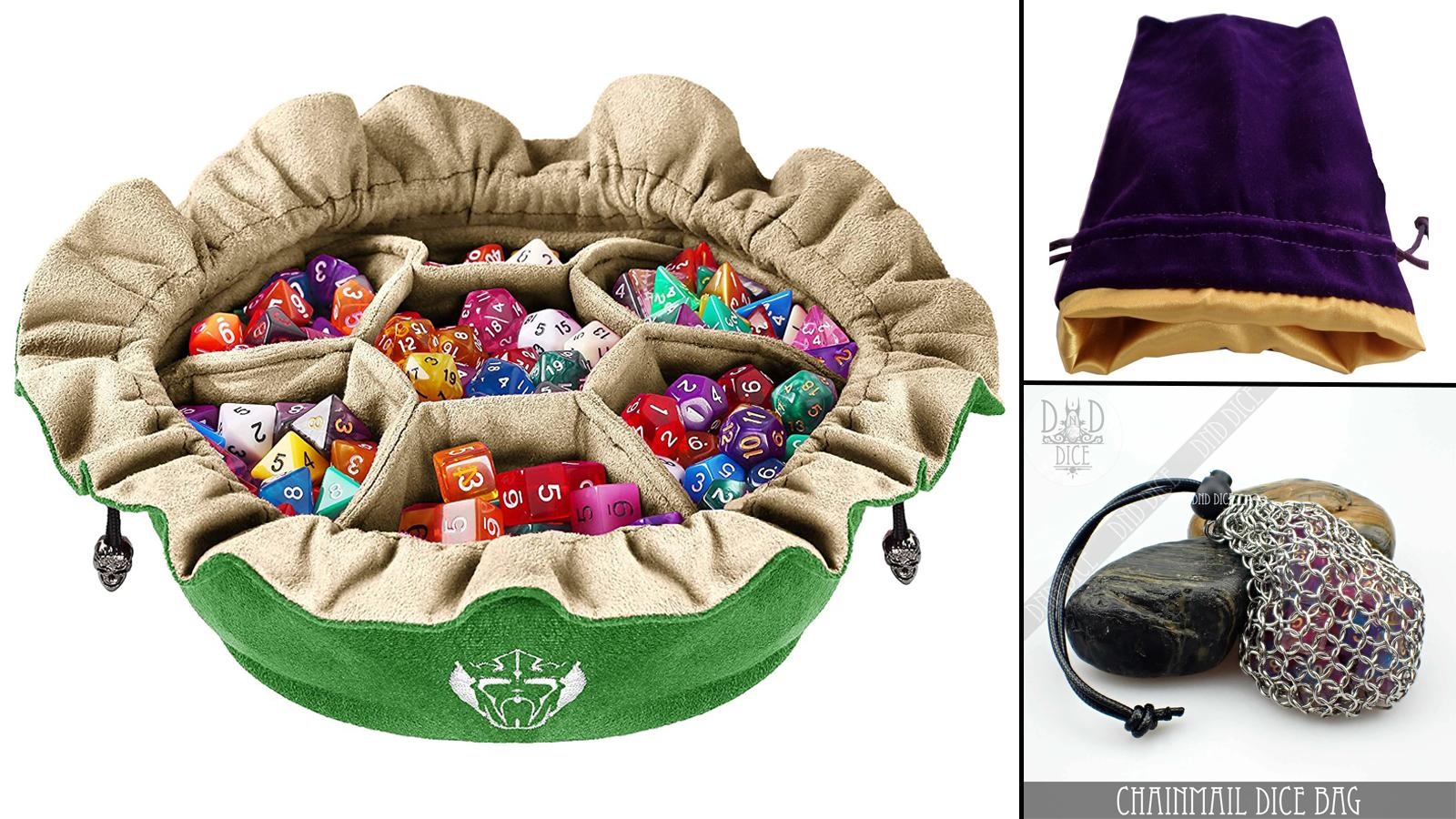 Various dice bag styles