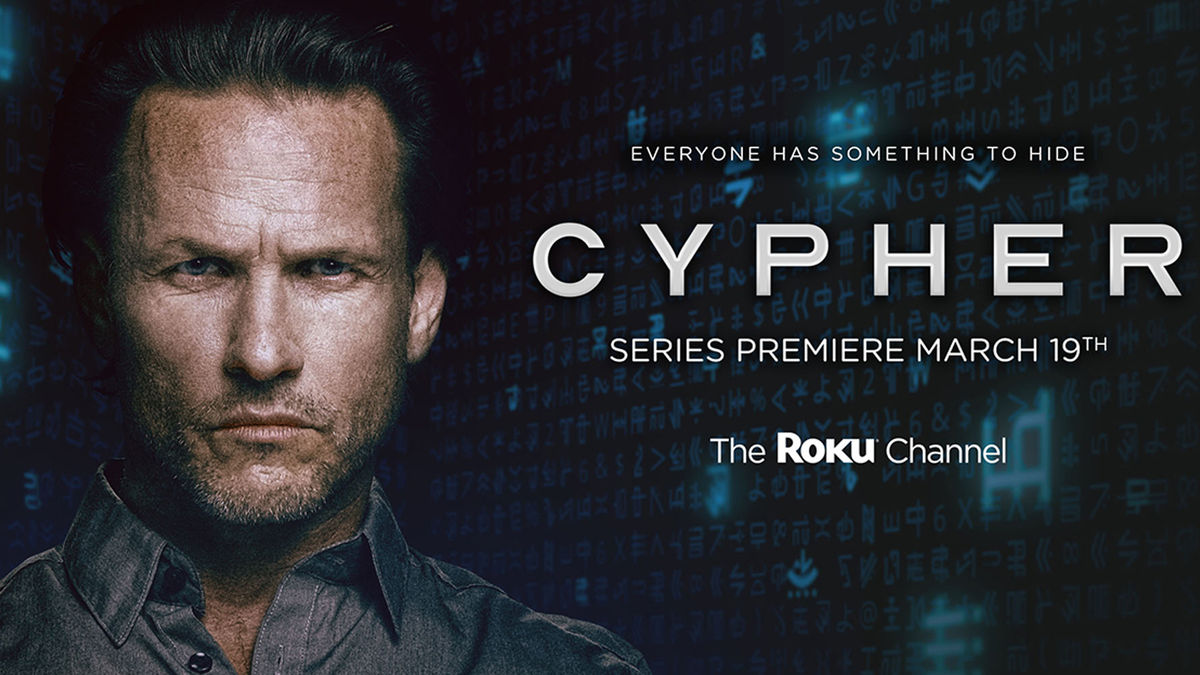 Cypher series logo from The Roku Channel